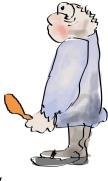 A Boy with a Chicken Leg
